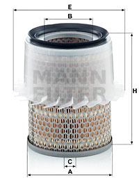 Ilustracja C 16 148 MANN-FILTER filtr powietrza