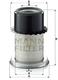 Ilustracja C 16 150 MANN-FILTER filtr powietrza