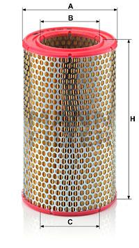 Ilustracja C 16 153 MANN-FILTER filtr powietrza