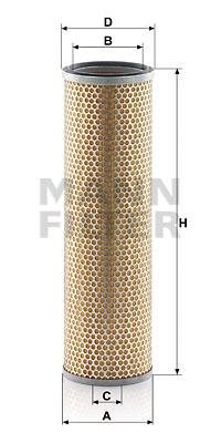 Ilustracja C 16 167 MANN-FILTER filtr powietrza wtórnego