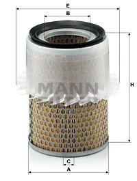 Ilustracja C 16 181 MANN-FILTER filtr powietrza