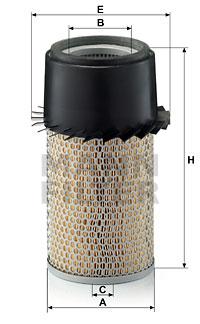 Ilustracja C 16 190/3 x MANN-FILTER filtr powietrza