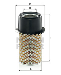 Ilustracja C 16 190 x MANN-FILTER filtr powietrza