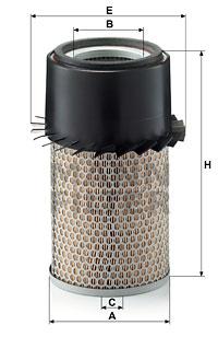 Ilustracja C 16 210 MANN-FILTER filtr powietrza