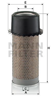 Ilustracja C 16 302 MANN-FILTER filtr powietrza