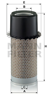 Ilustracja C 16 335 MANN-FILTER filtr powietrza