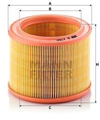 Ilustracja C 1760 MANN-FILTER filtr powietrza