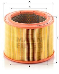 Ilustracja C 1760/1 MANN-FILTER filtr powietrza