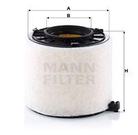 Ilustracja C 17 010 MANN-FILTER filtr powietrza