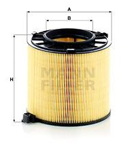 Ilustracja C 17 013 MANN-FILTER filtr powietrza
