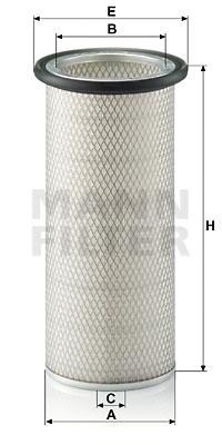 Ilustracja C 17 124 MANN-FILTER filtr powietrza wtórnego
