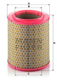 Ilustracja C 17 129 MANN-FILTER filtr powietrza