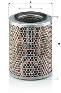 Ilustracja C 17 134 MANN-FILTER filtr powietrza