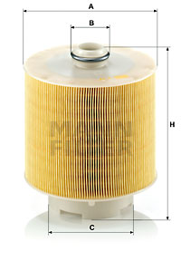 Ilustracja C 17 137/1 x MANN-FILTER filtr powietrza