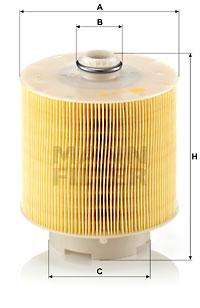 Ilustracja C 17 137 x MANN-FILTER filtr powietrza