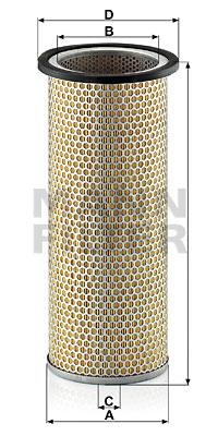 Ilustracja C 17 149 MANN-FILTER filtr powietrza wtórnego