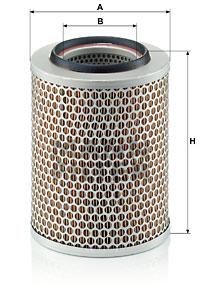 Ilustracja C 17 160 MANN-FILTER filtr powietrza