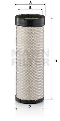 Ilustracja C 17 170 MANN-FILTER filtr powietrza wtórnego