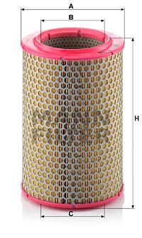 Ilustracja C 17 192 MANN-FILTER filtr powietrza