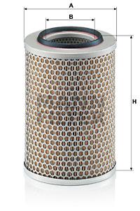 Ilustracja C 17 201 MANN-FILTER filtr powietrza