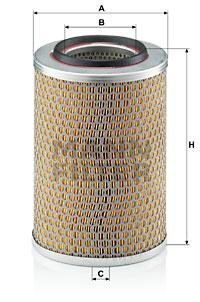 Ilustracja C 17 201/2 MANN-FILTER filtr powietrza