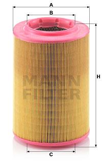 Ilustracja C 17 201/3 MANN-FILTER filtr powietrza
