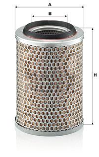 Ilustracja C 17 217 MANN-FILTER filtr powietrza