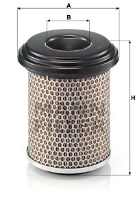 Ilustracja C 17 217/1 MANN-FILTER filtr powietrza