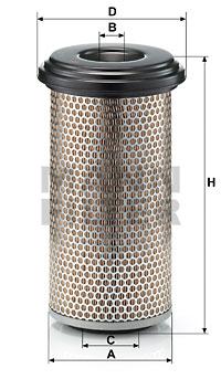 Ilustracja C 17 225 MANN-FILTER filtr powietrza