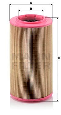Ilustracja C 17 237 MANN-FILTER filtr powietrza