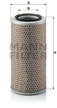 Ilustracja C 17 250 MANN-FILTER filtr powietrza