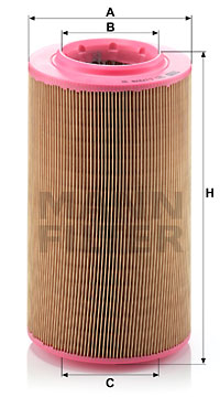 Ilustracja C 17 278 MANN-FILTER filtr powietrza