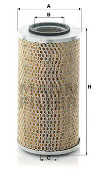 Ilustracja C 17 291 MANN-FILTER filtr powietrza