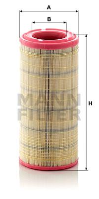 Ilustracja C 17 337/2 MANN-FILTER filtr powietrza