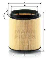 Ilustracja C 1869 MANN-FILTER filtr powietrza