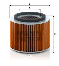 Ilustracja C 18 006 MANN-FILTER filtr powietrza