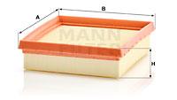 Ilustracja C 18 021 MANN-FILTER filtr powietrza