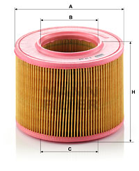 Ilustracja C 18 108 MANN-FILTER filtr powietrza