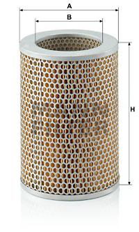 Ilustracja C 18 120 MANN-FILTER filtr powietrza