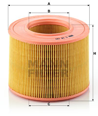 Ilustracja C 18 121 MANN-FILTER filtr powietrza
