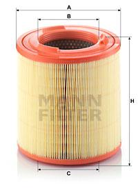 Ilustracja C 18 149/1 MANN-FILTER filtr powietrza