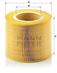 Ilustracja C 18 143 MANN-FILTER filtr powietrza