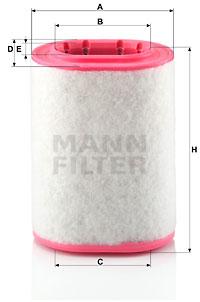 Ilustracja C 18 161 MANN-FILTER filtr powietrza