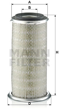 Ilustracja C 18 267 MANN-FILTER filtr powietrza
