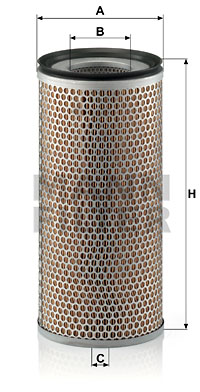 Ilustracja C 18 398 MANN-FILTER filtr powietrza