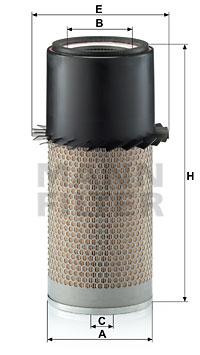 Ilustracja C 18 436 MANN-FILTER filtr powietrza