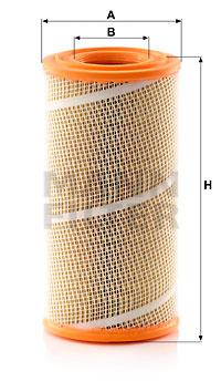 Ilustracja C 18 902 MANN-FILTER filtr powietrza