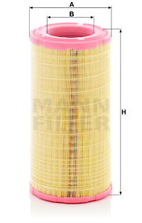 Ilustracja C 19 006 MANN-FILTER filtr powietrza