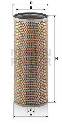 Ilustracja C 19 105 MANN-FILTER filtr powietrza wtórnego