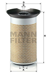 Ilustracja C 19 377 MANN-FILTER filtr powietrza